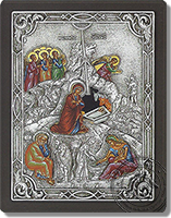 The birth of Jesus Christ - Silver Icon