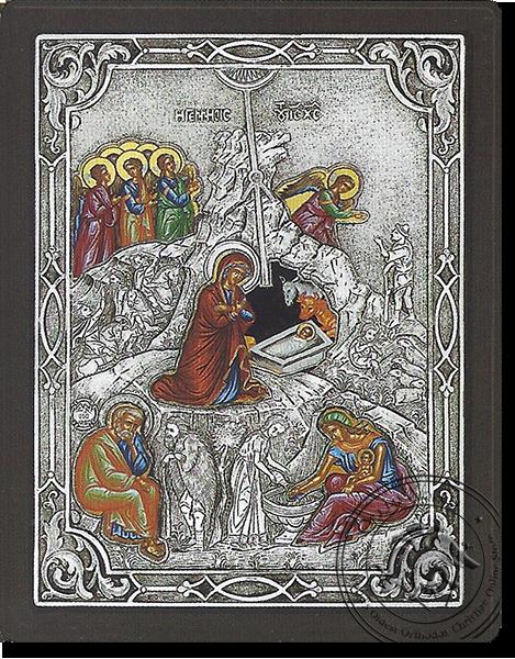 The birth of Jesus Christ - Silver Icon