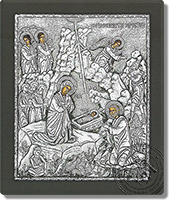 The Birth of Christ - Silver Icon