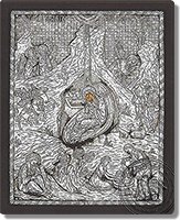 Birth of Christ - Silver Icon