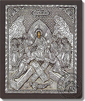 Christ Descent into Hell - Silver Icon