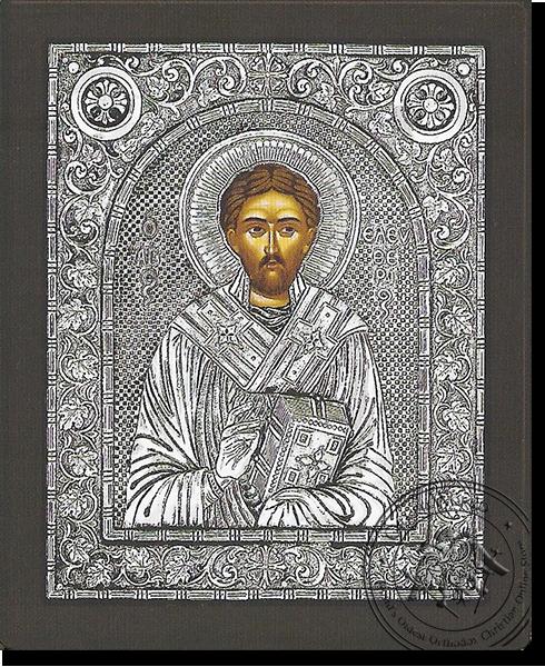 Saint Eleutherios - Silver Icon