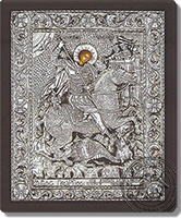 Saint George - Silver Icon