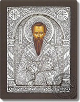 saint Gregory - Silver Icon