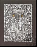 Sts Konstantinos & Eleni - Silver Icon