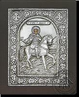 Saint Menas - Silver Icon