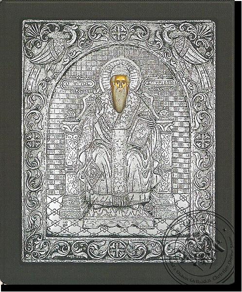 Saint Spyridon - Silver Icon