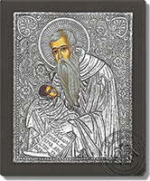 Saint Stylianos - Silver Icon