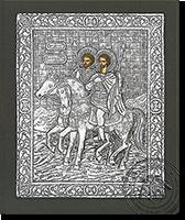 Agioi Theodoroi - Silver Icon