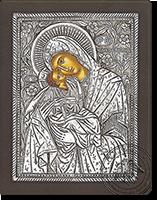 Panagia Glykofilousa (New Subject) - Silver Icon
