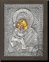 Panagia Glykofilousa - Silver Icon