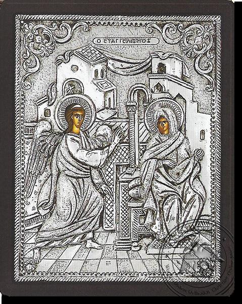 The Annunciation - Silver Icon