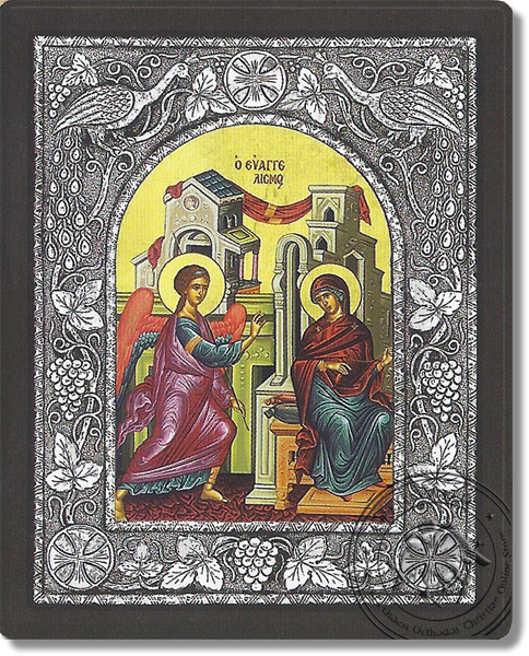 The Annunciation - Silver Icon