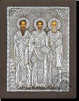 The Three Ierarches - Silver Icon