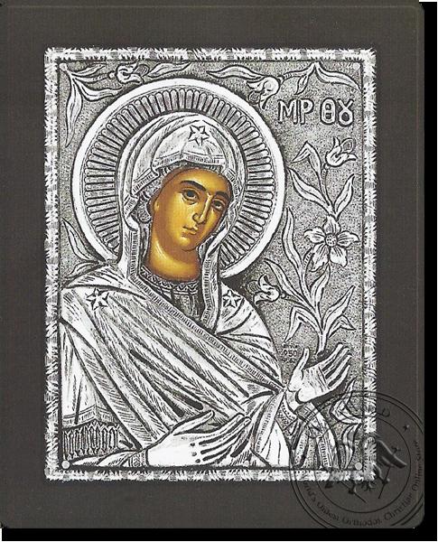 Panagia Deomeni - Silver Icon