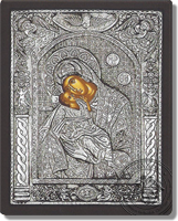 Panagia of the Angels - Silver Icon