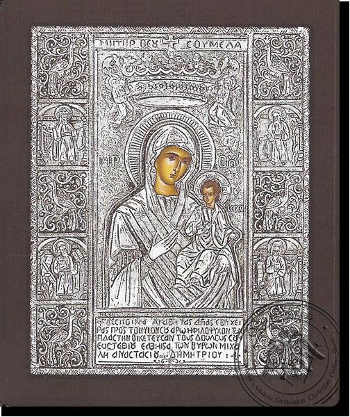 Panagia Soumela - Silver Icon