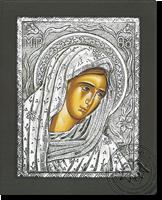 Panagia Thlimeni - Silver Icon