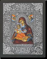 Panagia Platitera - Silver Icon