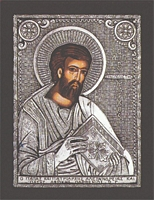 Mark the Apostle and Evangelist - Silver Icon