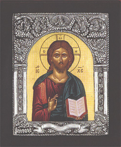 Christ Byzantine - Silver Icon