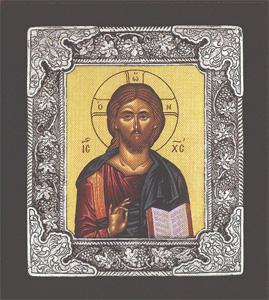 Christ (Russian) - Silver Icon