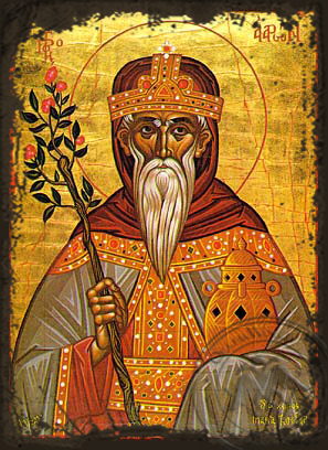 Aaron the Prophet - Aged Byzantine Icon