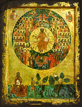 Saint All Saints - Aged Byzantine Icon