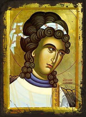 Angel Deacon, Bust - Aged Byzantine Icon