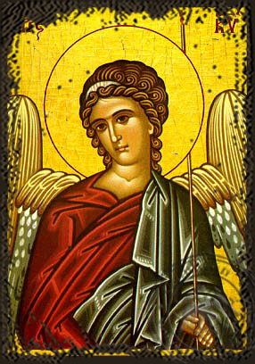 Angel of the Lord - Aged Byzantine Icon