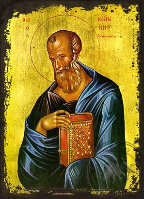 Apostle and Evangelist Saint John the Theologian - Aged Byzantine Icon