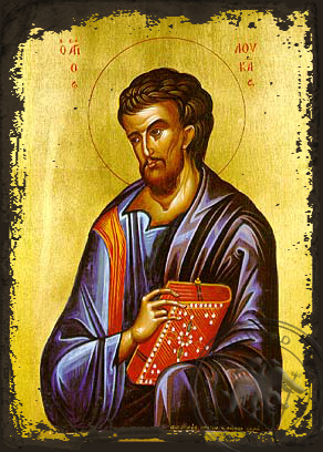 Apostle and Evangelist Saint Luke - Aged Byzantine Icon