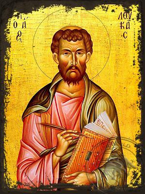 Apostle and Evangelist Saint Luke - Aged Byzantine Icon