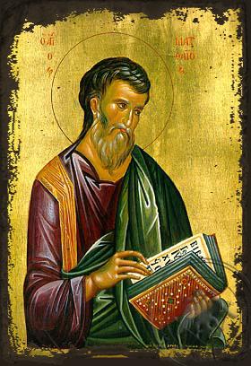 Apostle and Eyangelist Saint Matthew - Aged Byzantine Icon