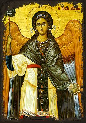 Gabriel Archangel - Aged Byzantine Icon