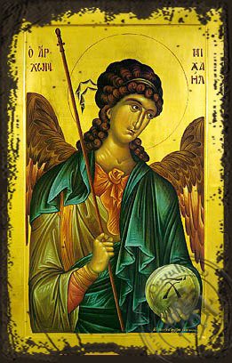Archangel Michael - Aged Byzantine Icon