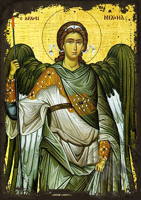 Michael Archangel - Aged Byzantine Icon