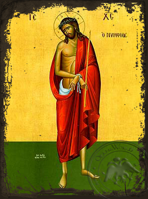 Bridegroom, Full Body - Aged Byzantine Icon