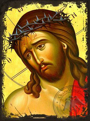 Bridegroom, Detail - Aged Byzantine Icon