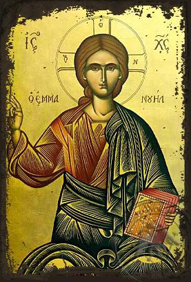 Emmanouel - Aged Byzantine Icon
