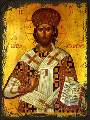 Great High Priest - Aged Byzantine Icon
