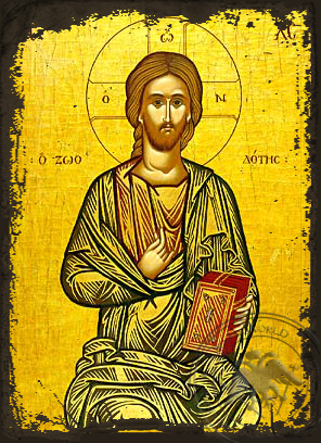 Christ Blessing, the Life-Giver - Aged Byzantine Icon