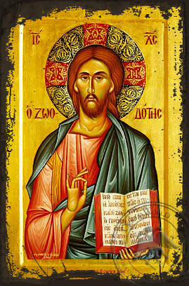 The Life-Giver - Aged Byzantine Icon