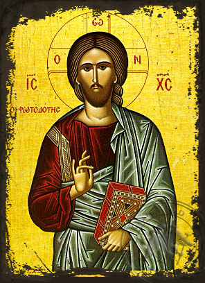 The Light-Giver - Aged Byzantine Icon