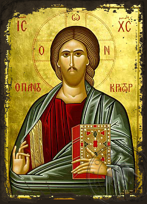The Pantokrator - Aged Byzantine Icon