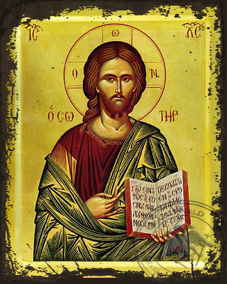 Christ Blessing, the Saviour - Aged Byzantine Icon