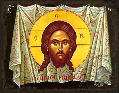 The Holy Napkin - Aged Byzantine Icon