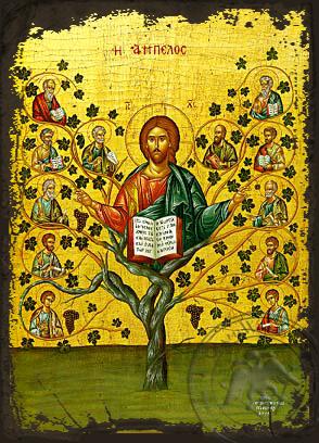 The Vineyard - Aged Byzantine Icon