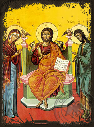 Deesis - Aged Byzantine Icon