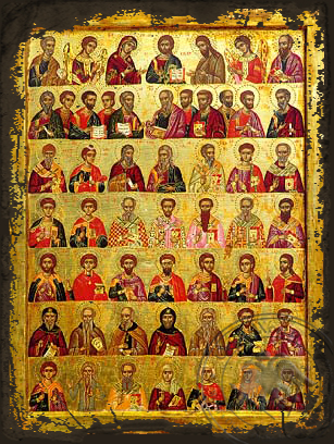 Great Deesis - Aged Byzantine Icon